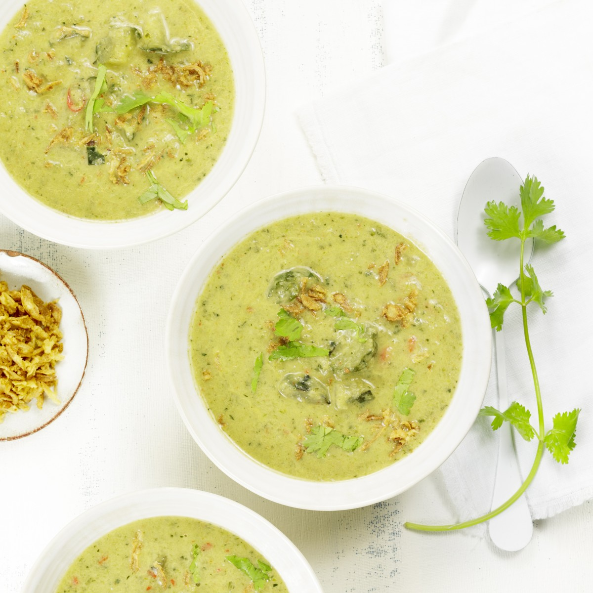 Creamy Asian cucumber soup