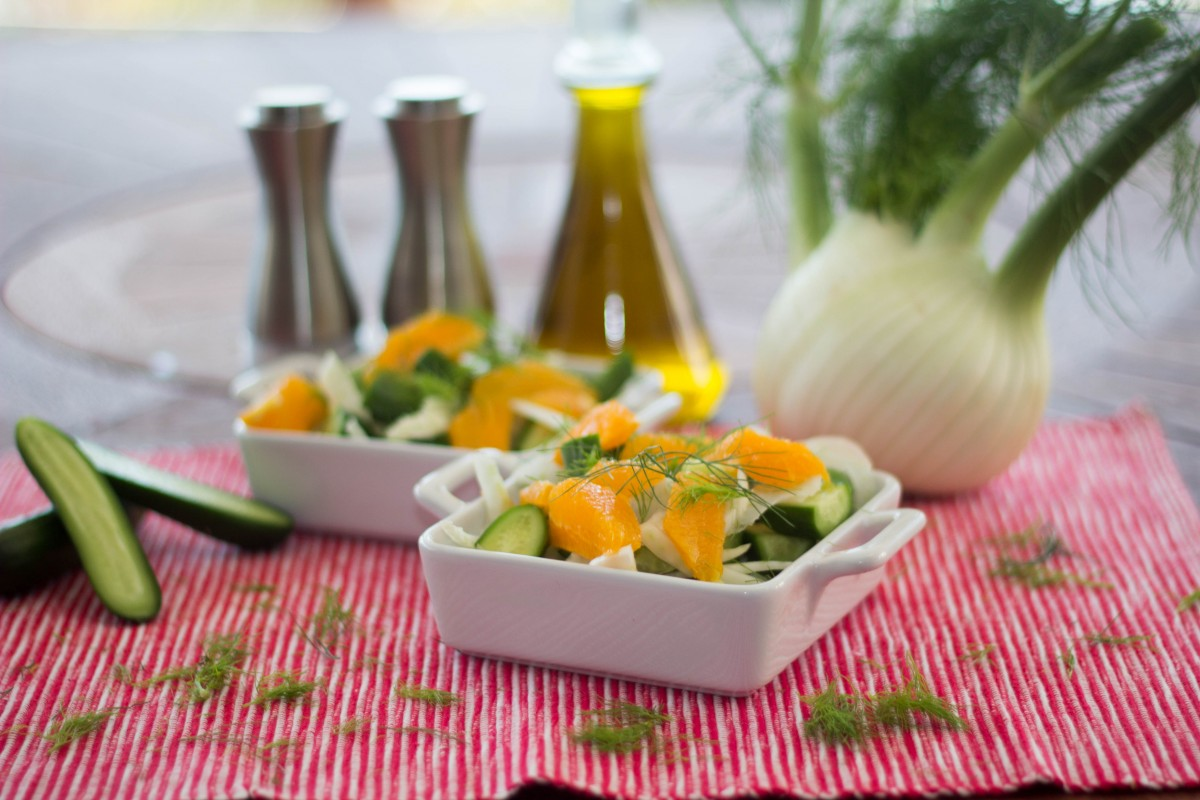 fennel, orange and cucumber salad