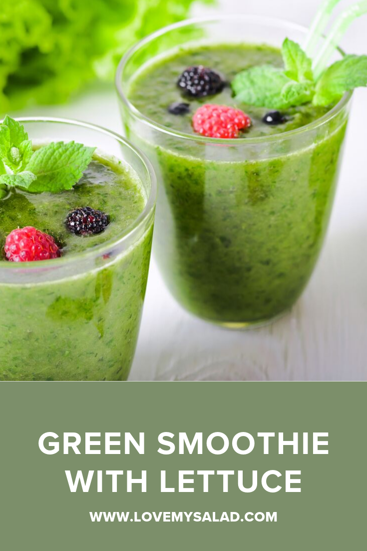 Green Smoothie With Lettuce And Lime Love My Salad