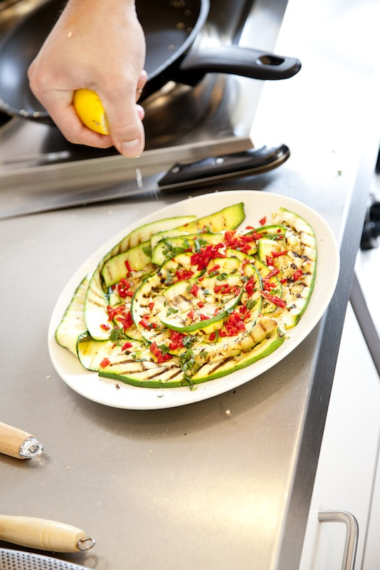 Fiery grilled zucchini