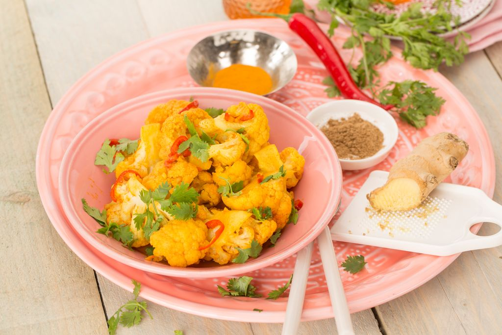 Indian-spiced cauliflower