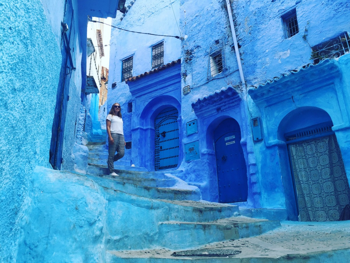 The blue vivid colours of Moroccos's towns and landscapes