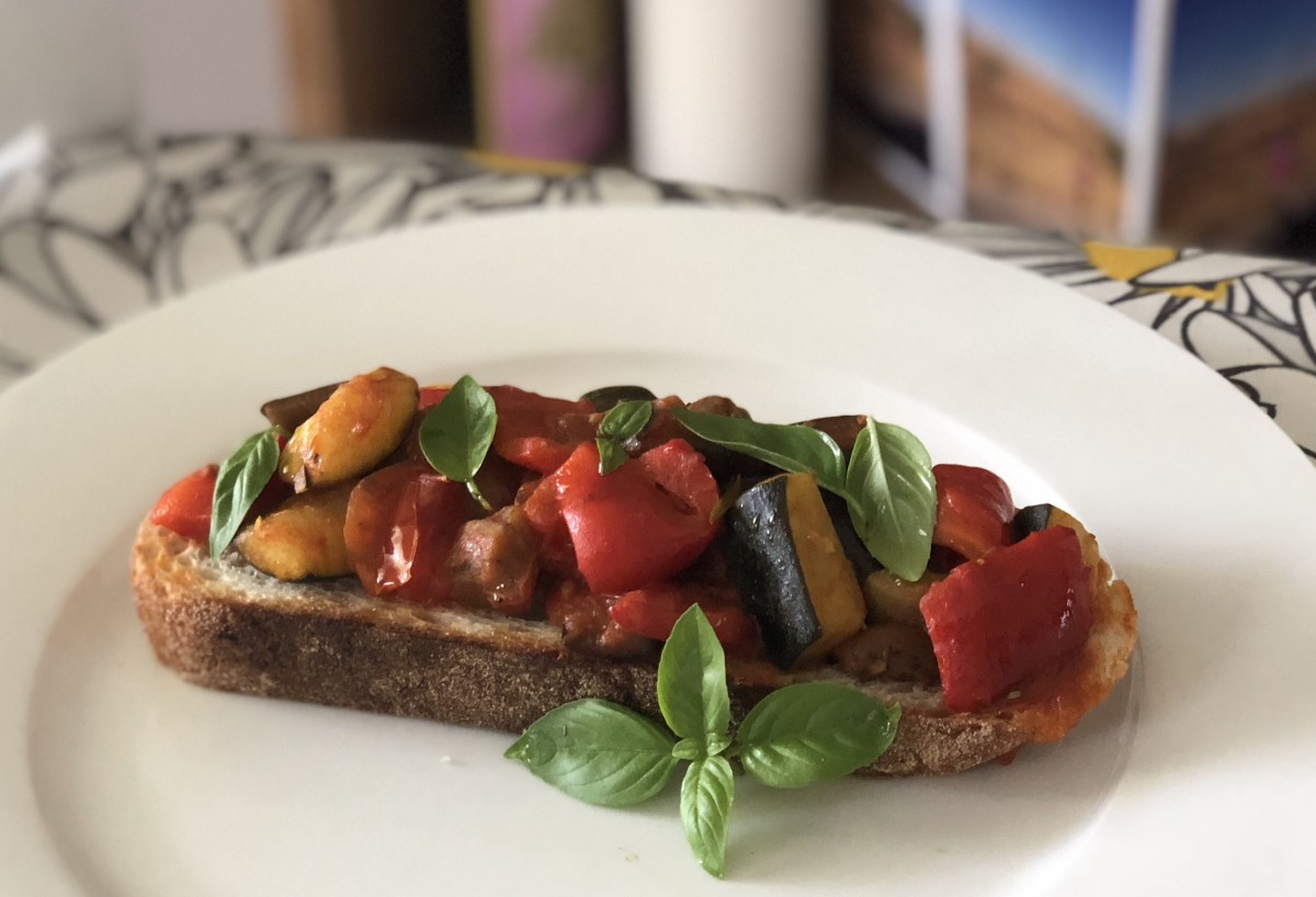 Ratatouille toast