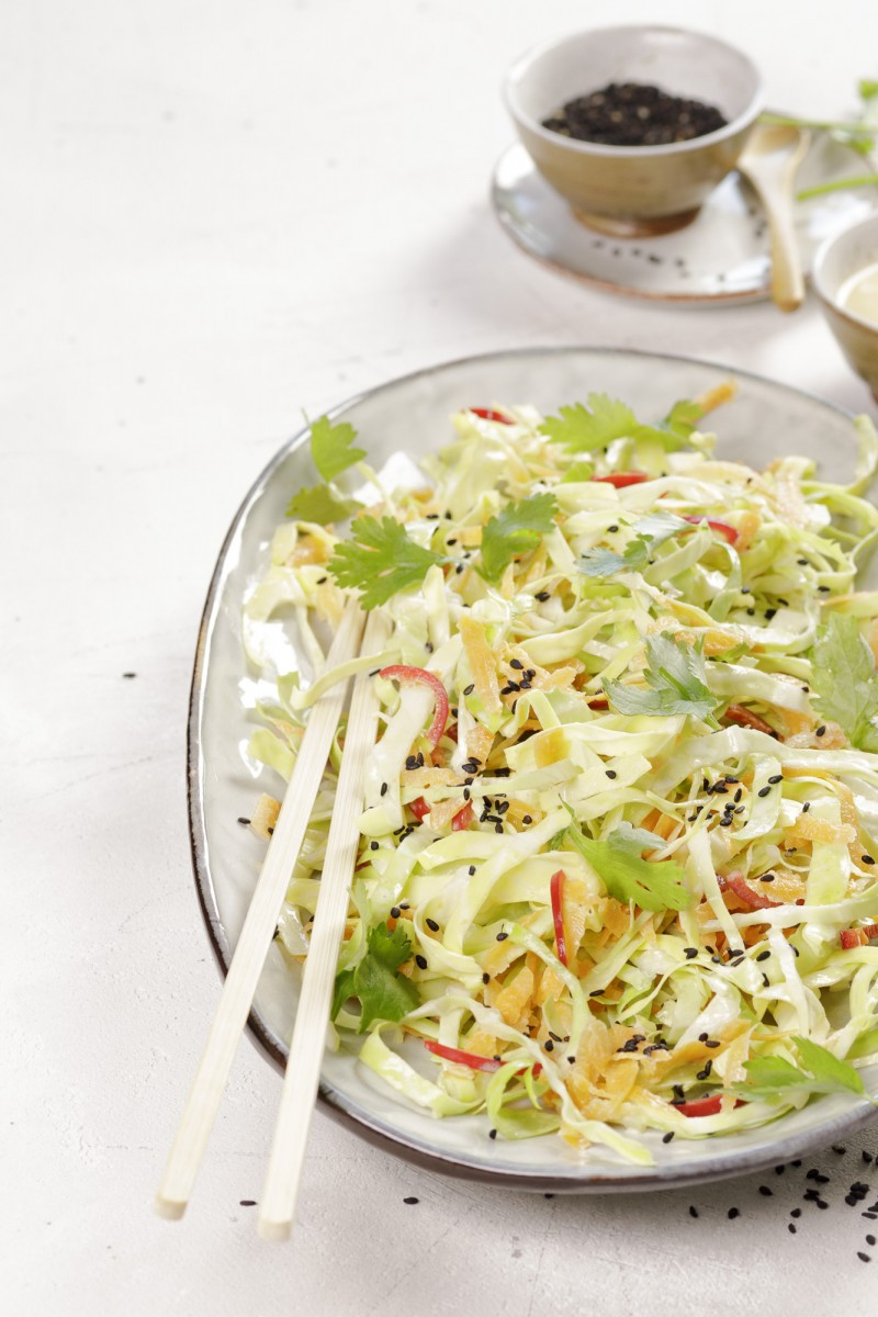 Asian pointed cabbage salad
