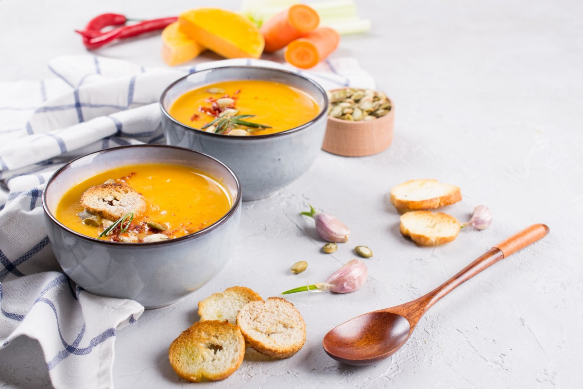 Spicey carrot ginger soup