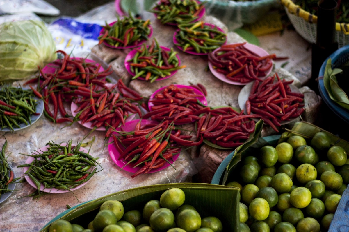 vietnamese street food chillies and limes