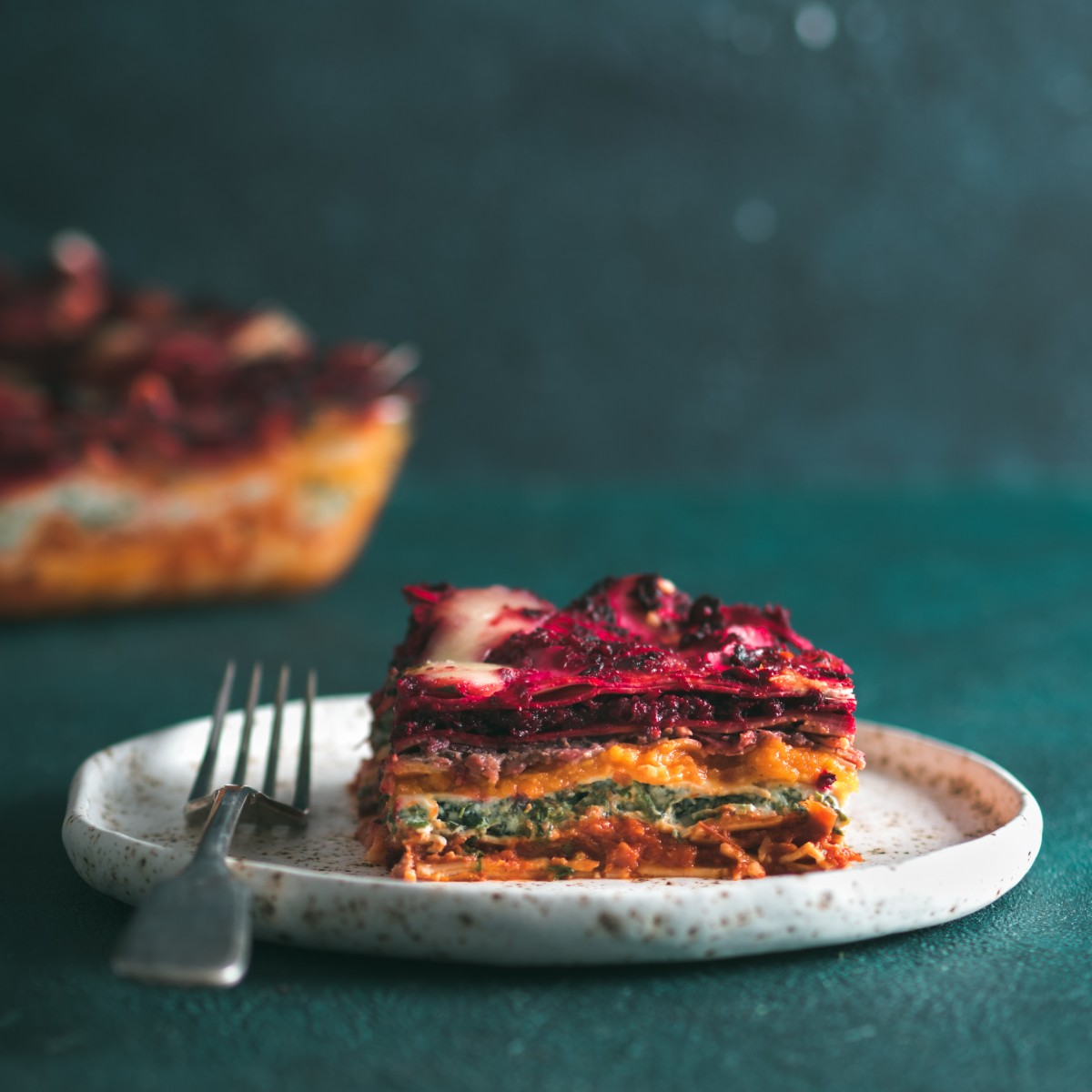 Vegetable packed rainbow lasagne