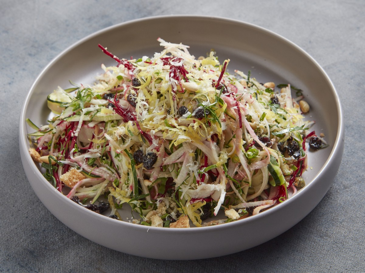 zest and refreshing slaw with zucchini and beetroot