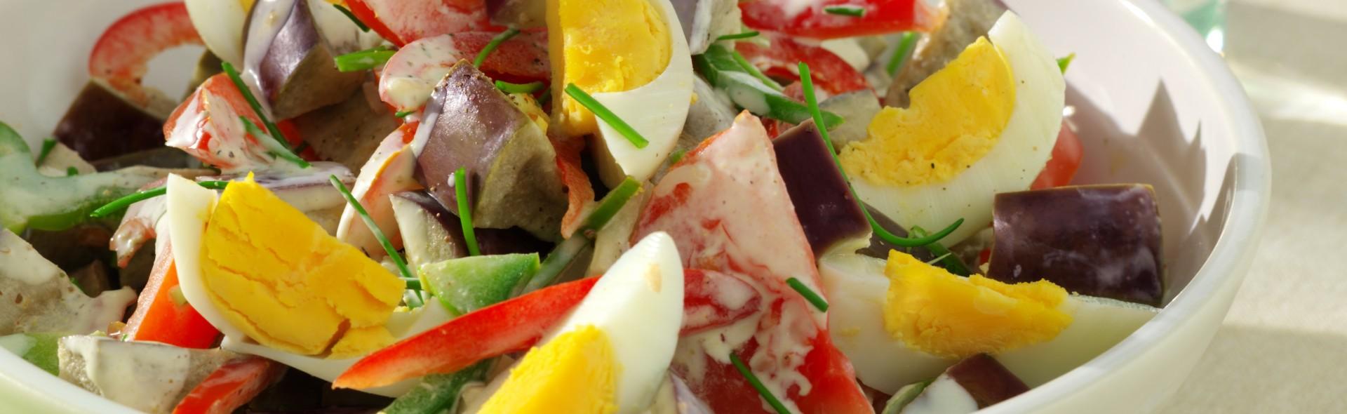 salade d 39 aubergine aux oeufs love my salad. Black Bedroom Furniture Sets. Home Design Ideas