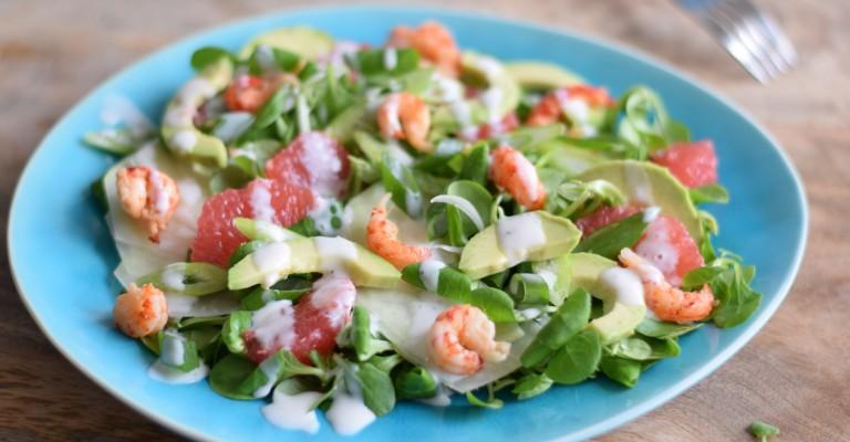 salat mit krebsen kohlrabi und grapefruit love my salad. Black Bedroom Furniture Sets. Home Design Ideas