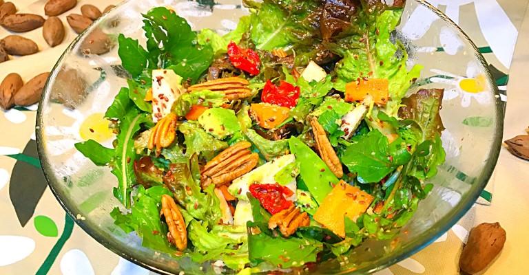Ensalada De Lechuga Roja Rúcula Manzana Y Nueces De Pecan Love My Salad