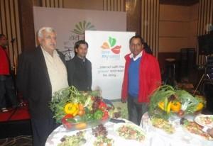 Professionals enjoy salads in India