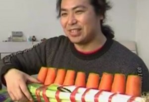 Chinese brothers turn vegetables into musical instruments