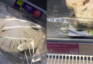Consumers took to social media to raise their concerns about the packaging of Mark and Spencer's cauliflower steak.