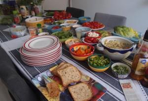 Salatbar, glutenfrei, vegetarisch