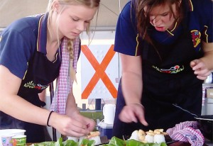 Love my salad at the East Gippsland Field Days 2012