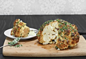 Whole roasted cauliflower. Simple and restaurant quality food