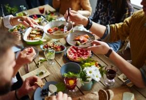 sharing salad, work salads