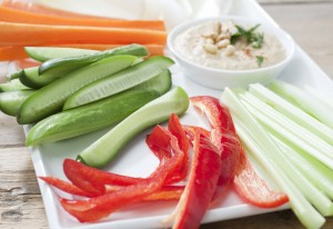 Delicious vegetable dips for snacking beetroot, hummus, roasted pepper