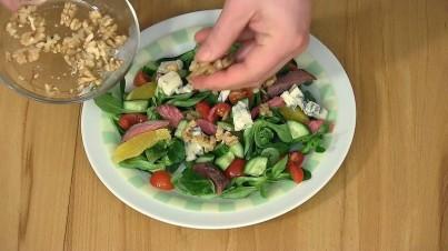 Salade à la viande de boeuf selon Christian