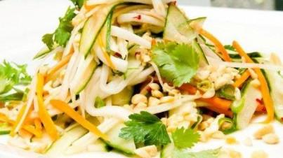 Salade de concombre de l'Asie du sud-est