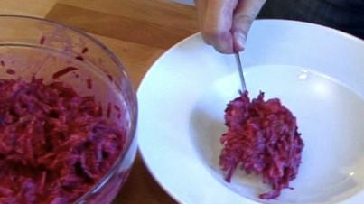 Salade de betterave rouge à la pomme