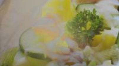 Pepino e salada de batata