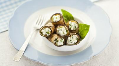 Delicious eggplant rolls