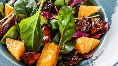 Baby spinach (Palak) salad