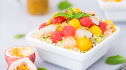Pinoy coconut Caribbean salad