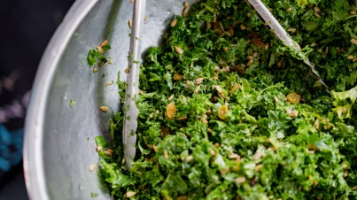 Coconut kale and sunflower seed salad