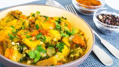 Creamy Mediterranean vegetable curry