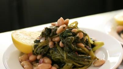 Fagioli cannellini e spinaci