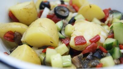 Summer potato salad with lemon and garlic vinaigrette