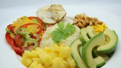 Couscous tropical con aliño de aceite de oliva y lima