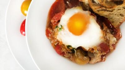 True Rebel Mix® Tomato and Egg Bake
