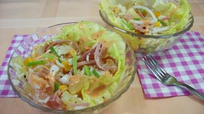 Hawaiian tropical rice salad