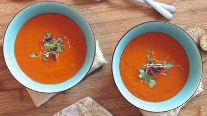 Polévka z čerstvých rajčat