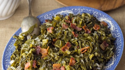 'Couve a Mineira' - kale and garlic salad