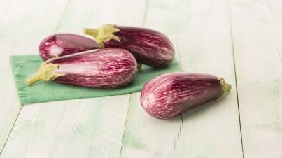 Warm eggplant salad with ciabatta