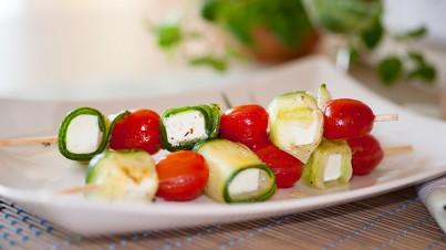 Gurke-Tomate-Feta-Spieße