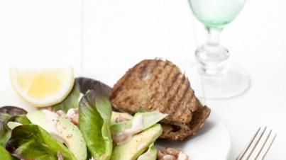 Cocktail de crevettes néerlandaises et laitue pommée rouge | un goût de Hollande
