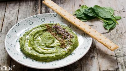 Hummus van spinazie