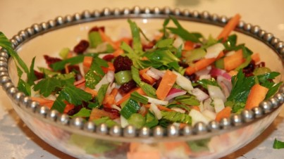 Celery and fennel salad with cranberries