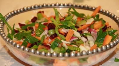 Salade de cèleri et fenouil aux cranberries