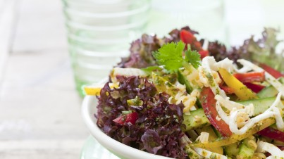 Grilled chicken salad sour cream dressing