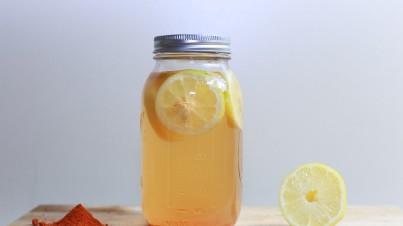 Komkommer-citroen limonade