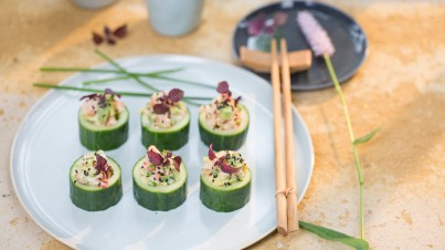 Easy and refreshing cucumber sushi rolls