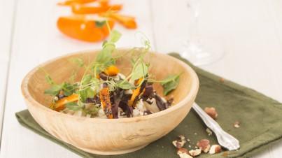 Koolrabi salade met gegrilde paprika