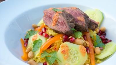 Thaise Beef Rijst Salade